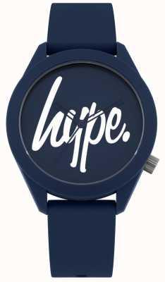 Hype | pulseira de silicone mens azul | mostrador azul e branco | HYG001U