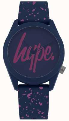 Hype | alça de silicone de pintura roxa da marinha das mulheres | mostrador azul / roxo HYL001UP