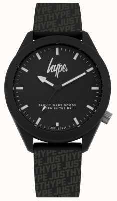 Hype | silicone preto da cópia da campanha publicitária dos homens | mostrador preto | HYG017B