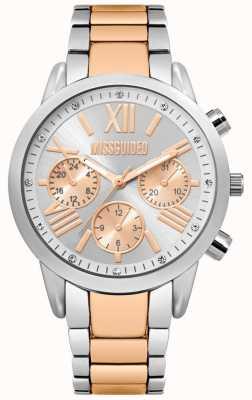 Missguided | senhoras dois tom relógio | pulseira de prata e ouro rosa | MG008SRM