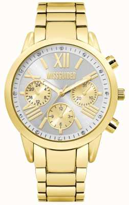 Missguided | relógio cronógrafo de ouro para senhora | MG008GM