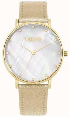 Missguided | pulseira de couro de ouro das senhoras | MG014GG