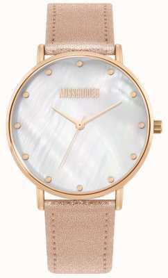 Missguided | pulseira de couro rosa senhoras | MG014RG