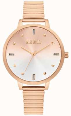 Missguided | senhoras rosa relógio de ouro | MG012RGM