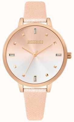 Missguided | senhoras subiram relógio de couro de ouro | mostrador de dois tons | MG020RG
