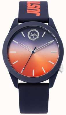 Hype | relógio de silicone azul dos homens | mostrador de dois tons | HYU020UO