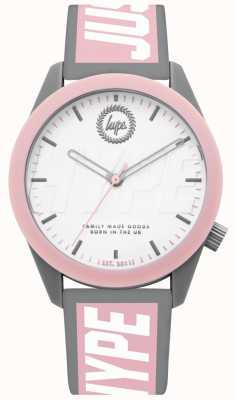 Hype | senhoras assistem | pulseira de silicone cinza e rosa | HYL018PW