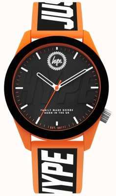 Hype | relógio de homem | pulseira de silicone laranja e preto | HYG018BO