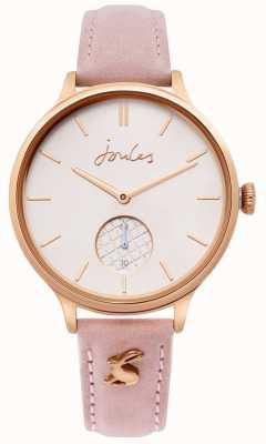 Joules | pulseira de couro rosa senhoras | caso de ouro rosa | JSL014PRG