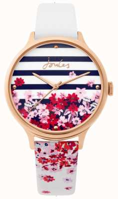 Joules | senhoras assistem | pulseira floral de couro branco | JSL015WRG