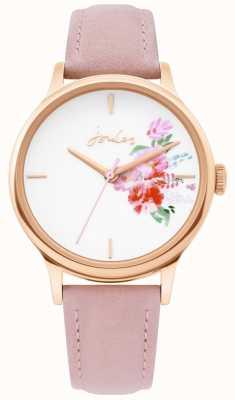 Joules | senhoras assistem | pulseira de couro nude | caso de ouro rosa | JSL017PRG