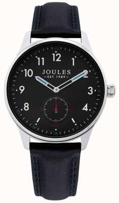 Joules | relógio de grade de mens | pulseira de couro preto | JSG008B