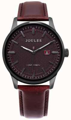 Joules | mens marfield assistir | pulseira de couro marrom | mostrador marrom | JSG009BRB
