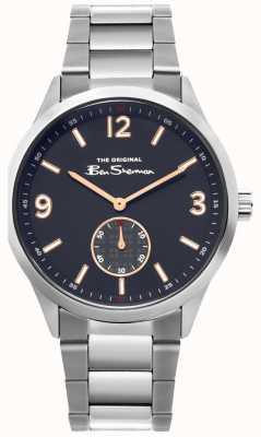 Ben Sherman | relógio de aço inoxidável para homem | mostrador azul | BS020SM