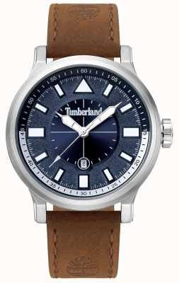 Timberland | mens driscoll | pulseira de couro marrom | mostrador azul | 15248JS/03