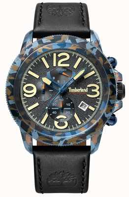Timberland | mens ashbrook | pulseira de couro preto | mostrador preto | 15474JSBL/61