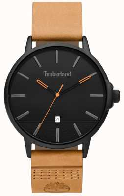 Timberland | mens rollinsford | pulseira de couro tan | mostrador preto | 15637JYB/02