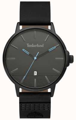 Timberland | mens rollinsford | pulseira de couro preto | mostrador preto | 15637JYB/13