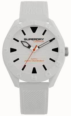 Superdry | osaka | mostrador branco mate | pulseira branca texturizada SYG243W