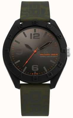 Superdry | osaka | pulseira de silicone cáqui cáqui | mostrador preto / cinza | SYG242N