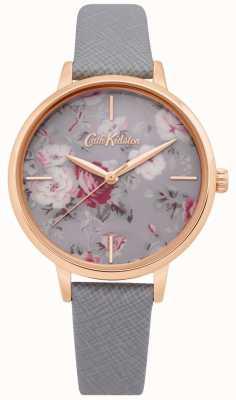 Cath Kidston | relógio do grupo do brampton das mulheres | pulseira de couro cinza | CKL069ERG