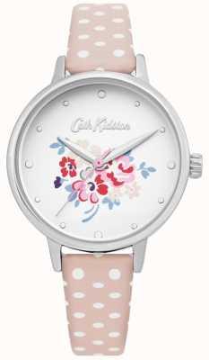 Cath Kidston | relógio afortunado do grupo das mulheres | polka dot couro rosa | CKL070P