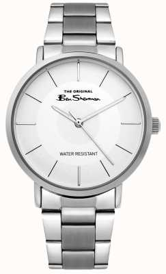 Ben Sherman | relógio do roteiro dos homens | pulseira de aço inoxidável | mostrador branco BS014SM