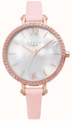 Lipsy | pulseira de couro rosa para mulher | mostrador branco | LP650