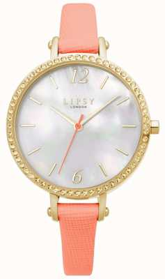 Lipsy | pulseira de couro coral para mulher | mostrador branco | LP649