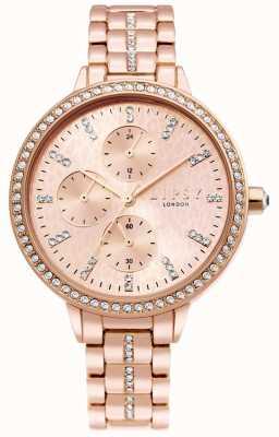 Lipsy | pulseira de aço de ouro rosa feminina | mostrador em ouro rosa | LP630