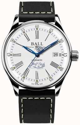 Ball Watch Company Couro de edição limitada de cronômetro de esforço Trainmaster NM3288D-L2CJ-WH