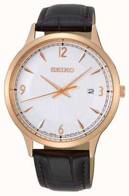 Seiko Bracelete de couro para homem SGEH88P1