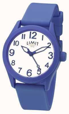 Limit | pulseira de silicone azul | mostrador branco | 5719