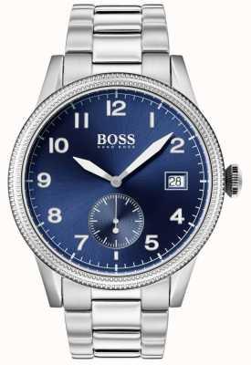 Boss | relógio legado mens | aço inoxidável | mostrador azul | 1513707