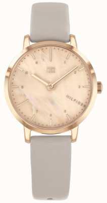 Tommy Hilfiger | relógio das mulheres com caixa em ouro rosa | 1782039