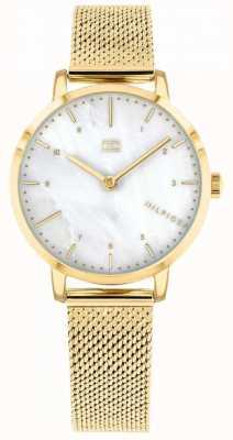 Tommy Hilfiger relógio de lírio de malha de ouro das mulheres | 1782043