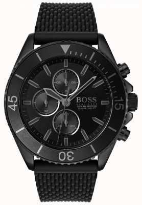 Boss | edição do oceano dos homens | mostrador preto | pulseira preta | 1513699