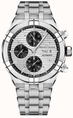 Maurice Lacroix Aikon pulseira de aço inoxidável cronógrafo automático AI6038-SS002-132-1