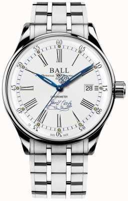 Ball Watch Company Pulseira de edição limitada do cronômetro de esforço Trainmaster NM3288D-S2CJ-WH