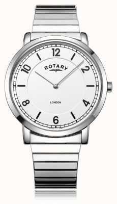 Rotary   gents pulseira de aço inoxidável   GB02765/18