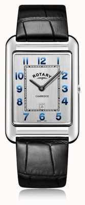 Rotary | gents pulseira de couro preto | GS05280/70