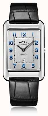Rotary | gents data pulseira de couro preto | GS05280/70