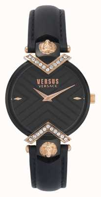 Versus Versace | pulseira de couro preto senhoras | VSPLH1419