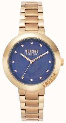 Versus Versace Senhoras pulseira de ouro rosa | mostrador azul | VSPLJ0819