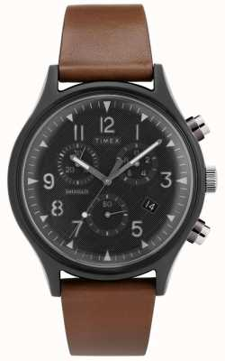 Timex | mk1 aço supernova crono | relógio de couro | TW2T29600D7PF
