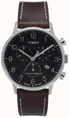 Timex | mens waterbury classic chrono | mostrador preto | TW2T28200D7PF