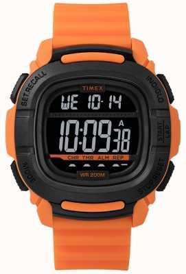 Timex | impulsionar choque laranja e preto digital | TW5M26500SU