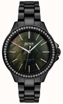 BOSS | relógio de aço inoxidável preto para senhora | 1502456
