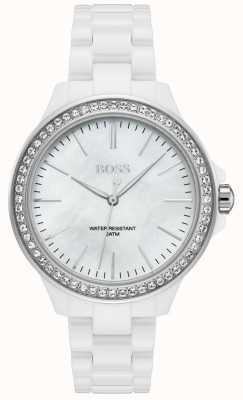 Hugo Boss | pulseira branca de senhora | mostrador branco | 1502454