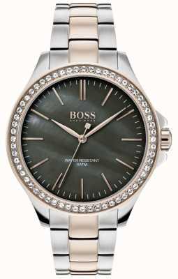 Hugo Boss | bracelete de aço inoxidável de dois tons para mulher | 1502452